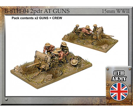 B-8TH-04 - 8th Army British 2 pdr anti-tank guns + Crew