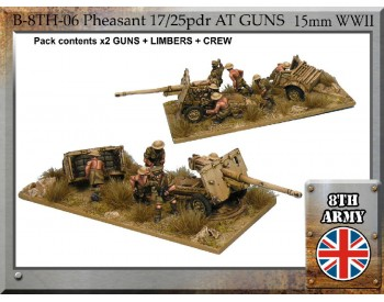 B-8TH-06 - 8th Army British 17/25pdr Pheasant anti-tank gun