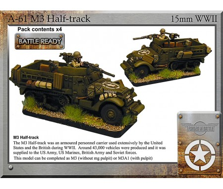 A-61 M3 halftrack x4