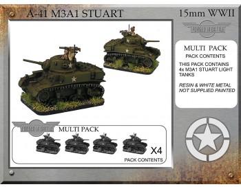 A-41 M3A1 Stuart x 4