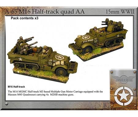 A-65 M16 halftrack quad AA x3