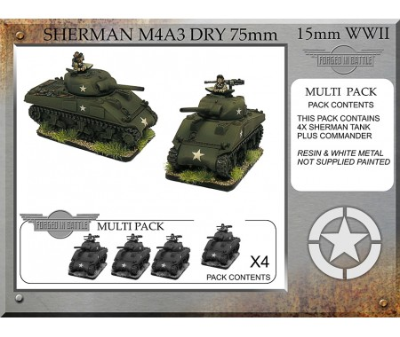 A-22 Sherman M4A3 dry 75mm (4 tanks)
