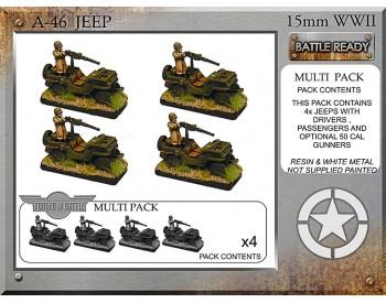 A-46 Jeeps & 50cal mg