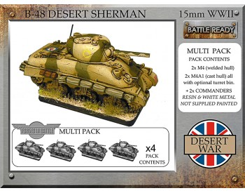 B-48 British desert Sherman x 4