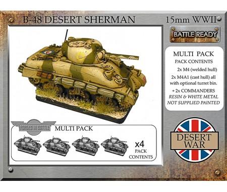 B-48 British desert Sherman x 4