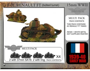 F-01 Renault FT x 4