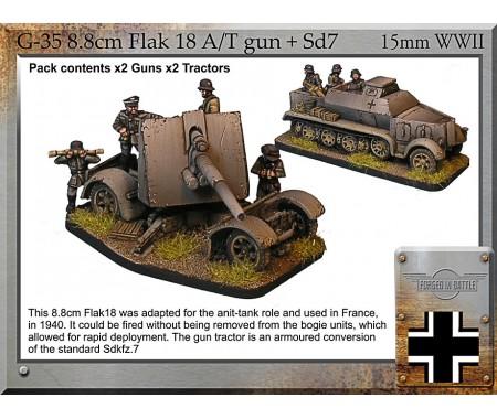 G-35 8.8cm Flak 18 A/T gun + armoured Sd.7