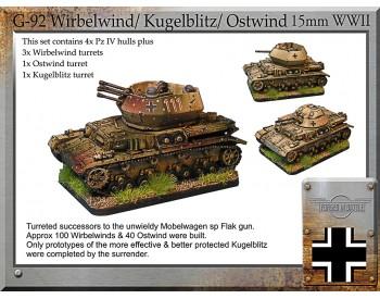 G-92 Wirbelwind, Kugelblitz & Ostwind