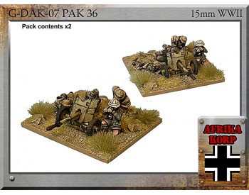 G-DAK-07 Africa Korps Pak 36, 3.7 cm Anti-tank Gun & Crew