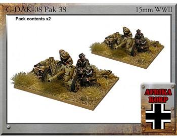 G-DAK-08 Africa Korps Pak 38, 5cm Anti-tank Gun & Crew