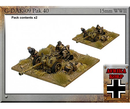 G-DAK-09 Africa Korps Pak 40, 7.5 cm Anti-tank Gun & Crew