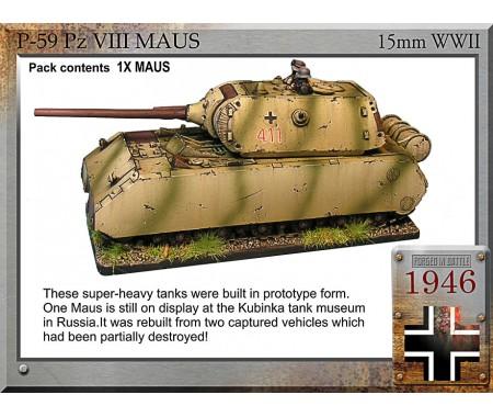 P-59 Maus super tank, 12.8cm/7.5cm