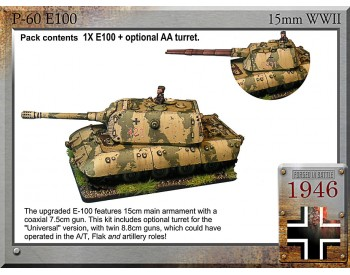 P-60 E-100 super tank, 15cm/7.5cm or UA-88