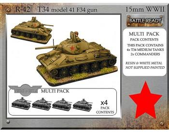 R-42 T-34 m41 F34 x 4