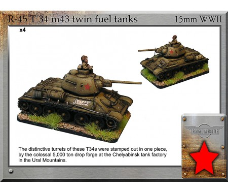 R-45 T-34 m43 twin fuel tanks