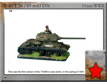 R-48 T-34/85 m43 D5T