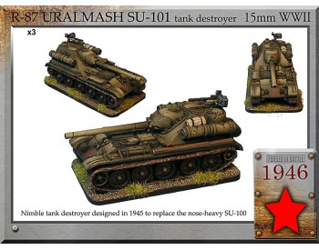 R-87 Uralmash SU-101 tank destroyer