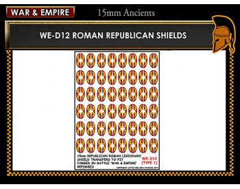 WE-D12 Republican Roman large oval shields