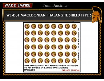 WE-D31 Macedonain Phalangite Shield (Type 6)