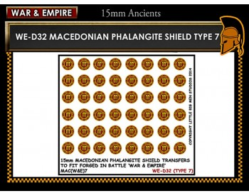WE-D32 Macedonain Phalangite Shield (Type 7)