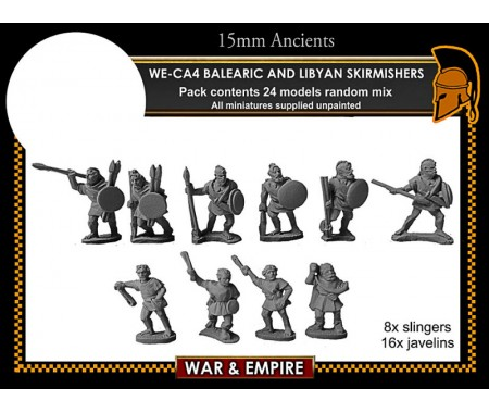 WE-CA04 Carthaginian Balearic & Libyan Skirmishers