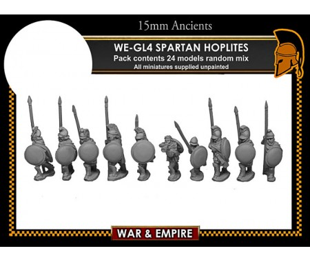 WE-GL04 Later Greek, Spartan/Cloaked Hoplites